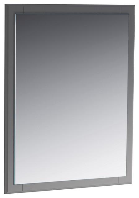 Fresca Oxford 26 Mirror, Gray.