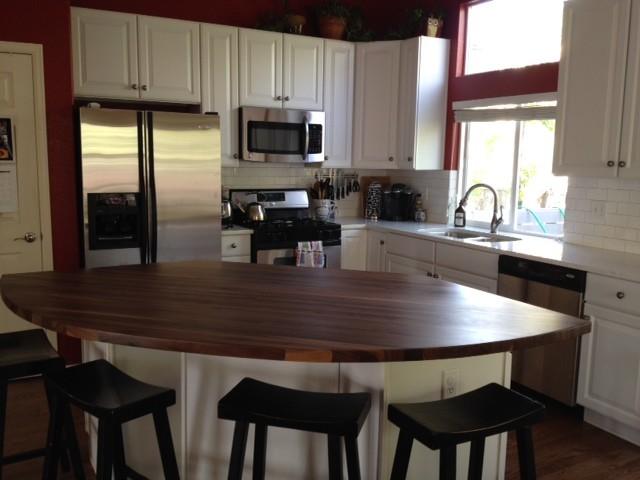 Walnut Butcher Block Kitchen Island : Armani Fine Woodworking Walnut Butcher Block Kitchen Island (Golden, CO) - Traditional - Kitchen ...