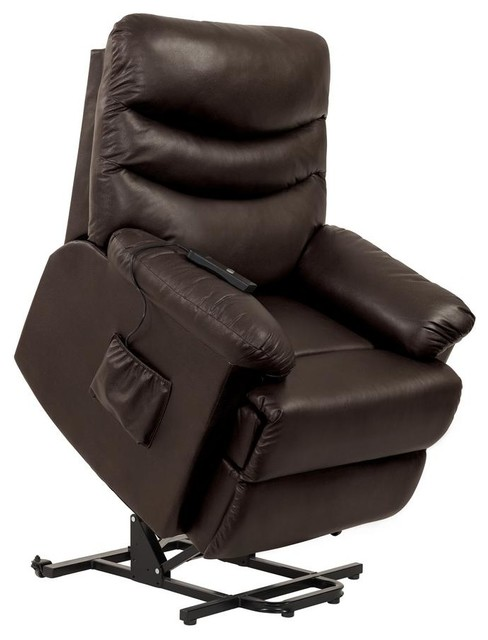 Prolounger Power Recline And Lift Wall Hugger Chair, Coffee Brown Renu Leather by Handy Living