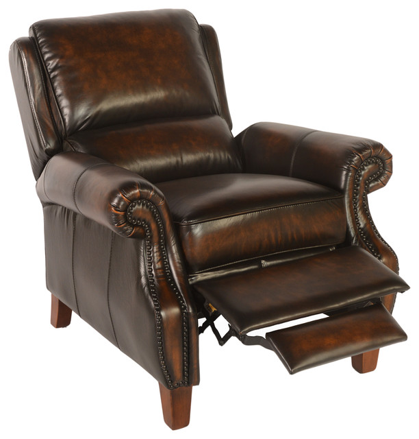 Lazzaro Leather Prato Recliner Transitional Recliner