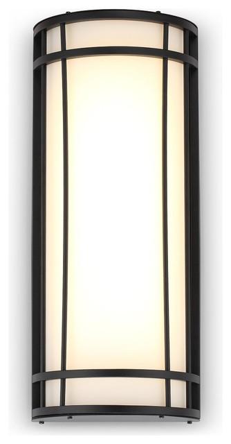Diana Modern Matte Black LED Outdoor Wall Light