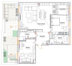 Поиск планировки: Три плана + финал питерской квартиры с террасой
