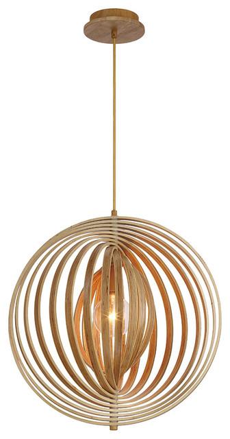 """Eurofase Lighting 31873-017 Pendant Designwl2017 Wood, 19.25""""x20""""."""
