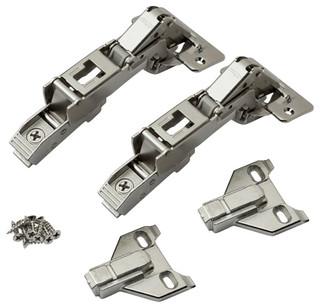 Pair of Blum 170 Degree Hinge with Face Frame Plate Kit For Overlay Doors - Contemporary ...