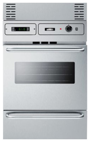 24 Inch Gas Wall Oven In Stainless Steel Ttm7882bkw Contemporary