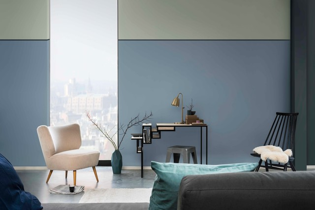 Dulux colour of the year 2017 denim drift modern buckinghamshire by d - Peinture bleu vintage ...