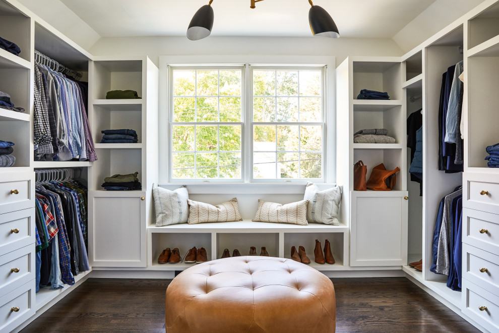 Inspiration for a transitional closet remodel in Boston