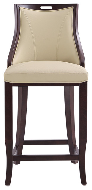 Imperial 27 Leatherette Bar Stool, Cream.