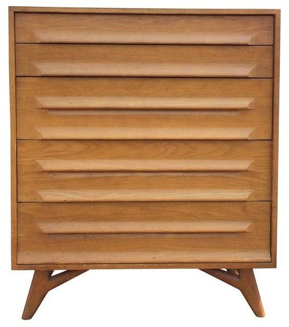 Mid Century Modern Oak Canted Leg Dresser Midcentury Dressers