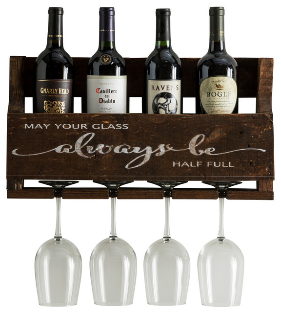 Always Be Wine Quote, Little Elm Collection, Walnut.