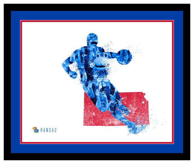 Lulu Press Framed Kansas Jayhawks Silhouette Art View