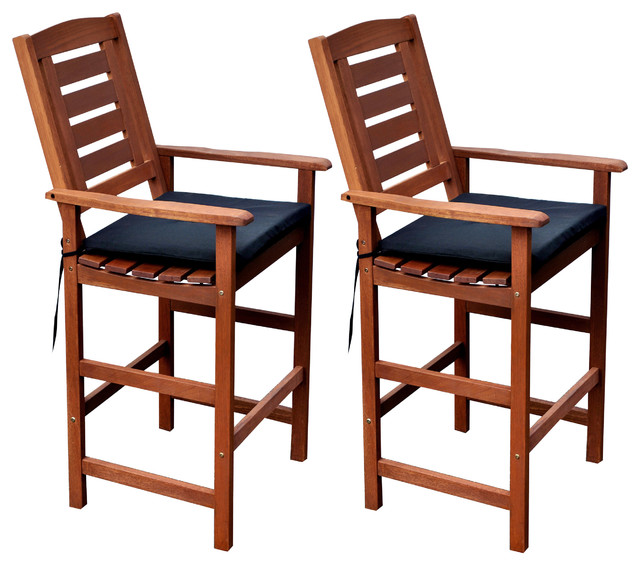miramar outdoor barheight chairs set of 2