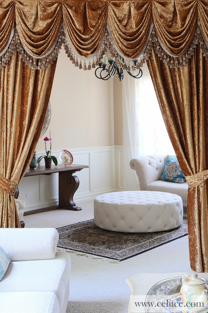 Curtains Ideas austrian valances curtains : Gold Velvet - Pleated Austrian Style Swag Valance Curtains ...