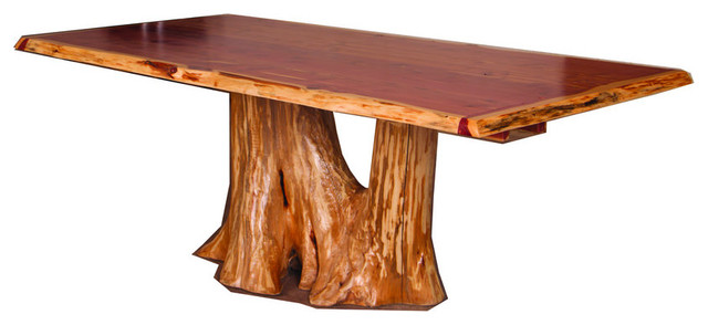 Charmant Rustic Red Cedar Log Tree Stump Dining Table