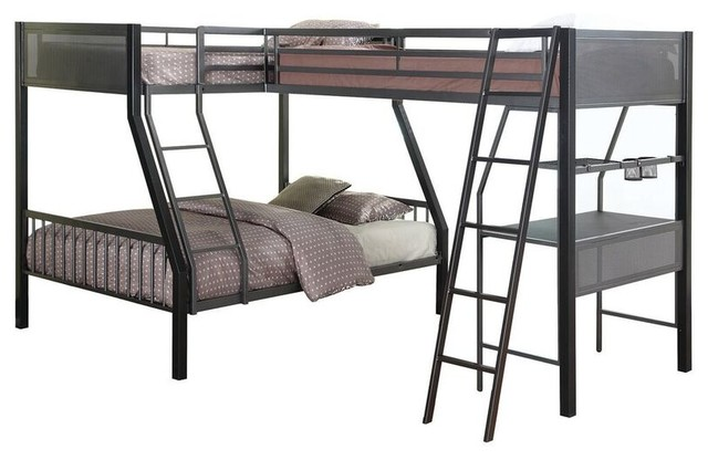 Jakks Metal Twin Full L Shape Study Loft Bunk For 3 Or More