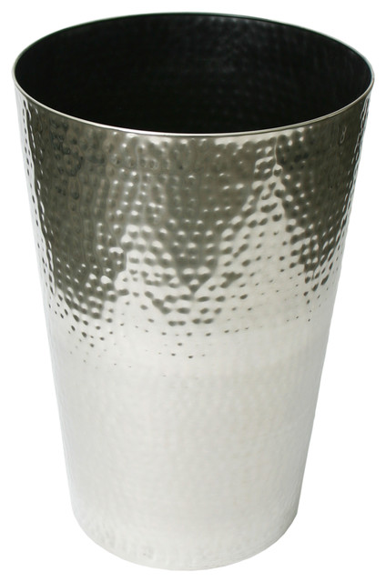 Algreen Stainless Steel Hammered Round Taper Contemporary Outdoor Pots And Planters By Products