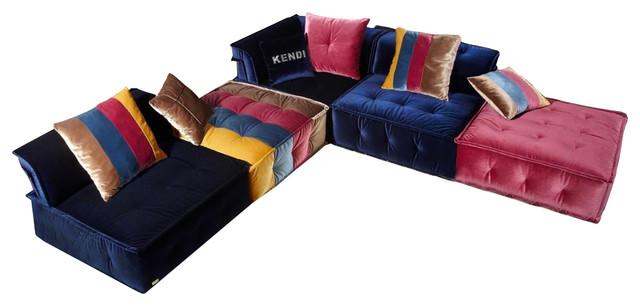 Soflex Phoenix Ultra Modern Multicolor Fabric Modular Sectional Sofa