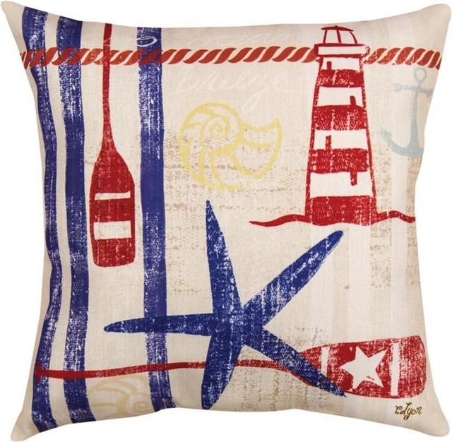 Nautical Breeze Starfish Print Indoor Outdoor Decorative Throw
