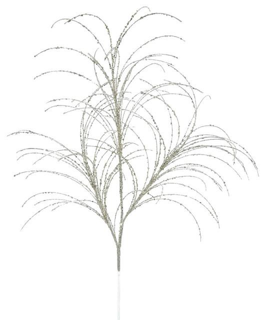 """Vickerman 34"""" Copper Glitter Grass Artificial Christmas Spray 6 Per Bag"""