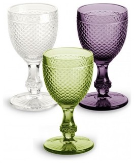 Pressed Glass Goblet traditional glassware