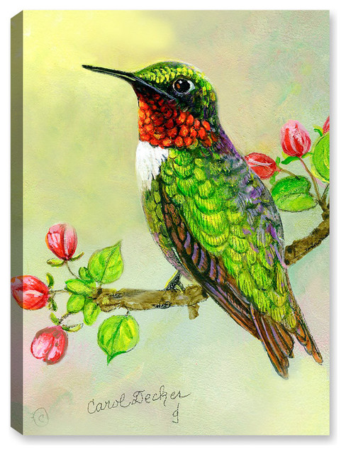 8a9bfe8d5c9 Hummingbird and Apple Tree - Contemporary - Outdoor Wall Art - by Canvas  Art Plus