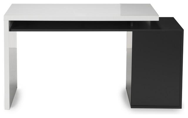 Fusion bureau style moderne avec caisson int gr moderne for Meuble secretaire moderne blanc