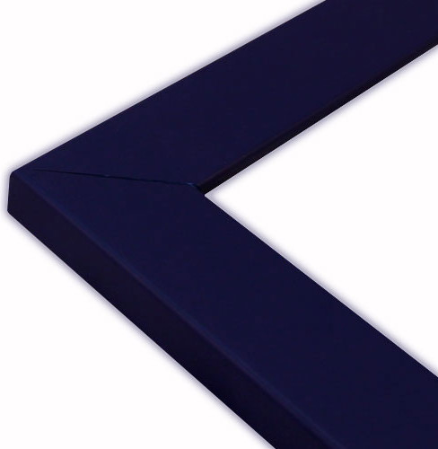 flat navy blue picture frame solid wood 10x10 traditional picture frames
