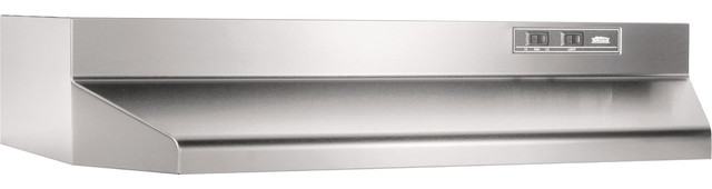 30 2-Speed Ducted Under Cabinet Range Hood, Stainless Steel.