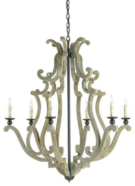 Currey and Company 9636 Durand 6 Light Chandelier