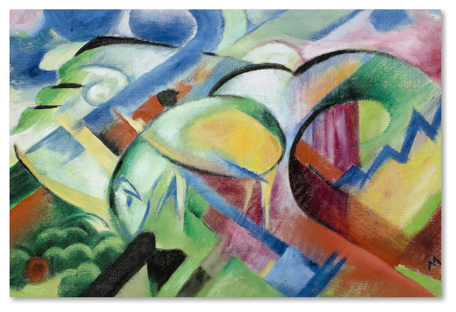 Franz Marc The Sheep Canvas Art Contemporary Prints And Posters By Trademark Global