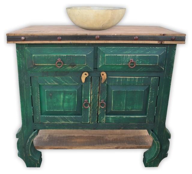 San Pascual 36 Rustic Vanity Vintage Green