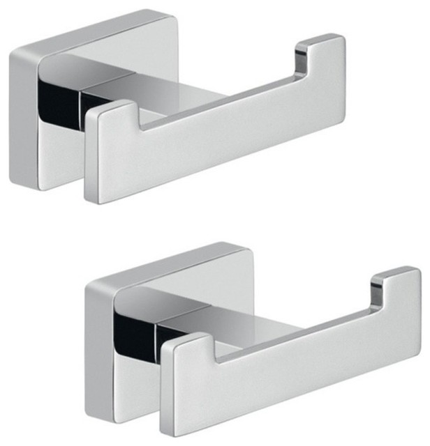 chrome bathroom accessory hook set modern robe towel hooks by
