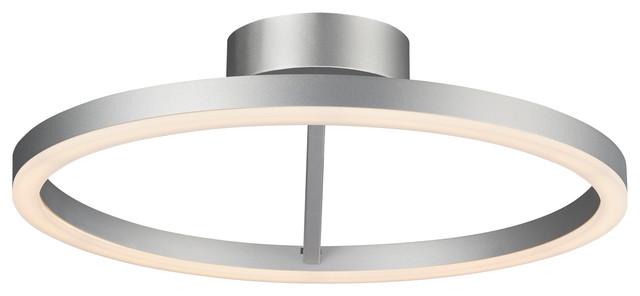 Zuben Circular Led Ceiling Light Silver 20 Modern Flush Mount Ceiling Lighting By Vonn