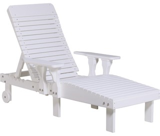 Recycled plastic lounge chair contemporary outdoor for Chaise longue plastique