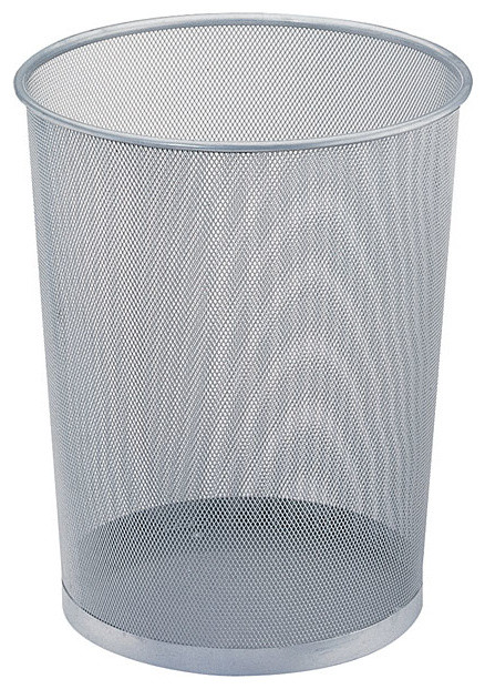 Office mesh round wastebasket modern wastebaskets by holdnstorage - Modern wastebasket ...