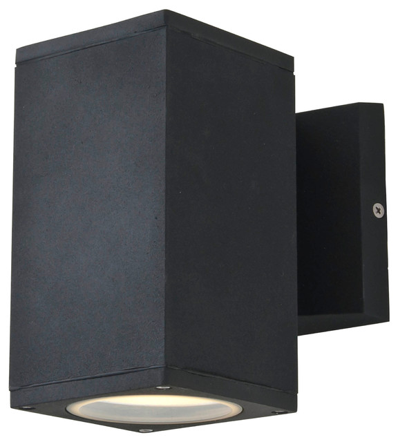 Black Exterior Wall Sconces : Outdoor Sconce, Matte Black - Modern - Outdoor Wall Lights And Sconces - by DVI Lighting