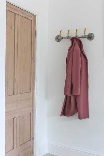 Industrial Steel Pipe Coat Rack/Hooks - Bespoke Industrial Domestic Fixtures and