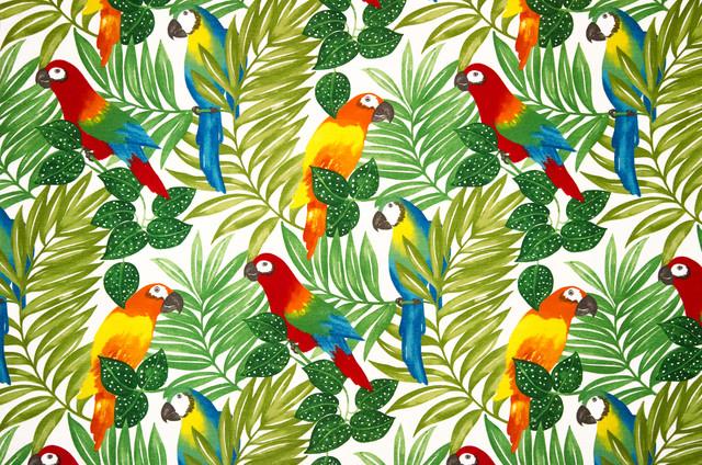 Parrot Fabric Tropical Jungle Bright Tropical Drapery