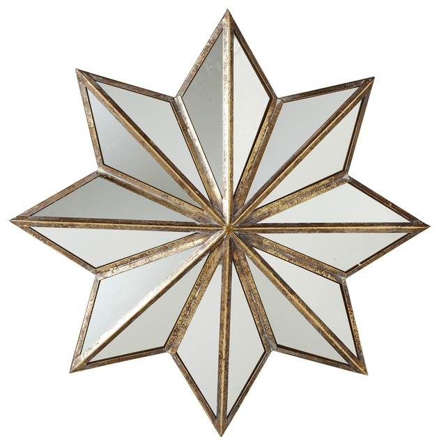 Midwest Cbk Star Wall Decor With Mirror Goldwash