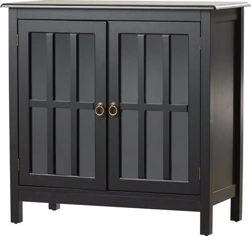 Accent Standard Wooden Cabinet With 2 Doors, Black