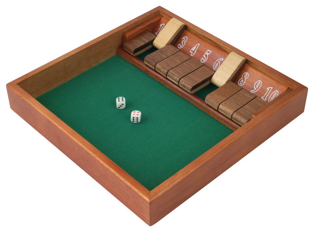 Shop Houzz | Trademark Games Shut the Box Game with Dice, 10 ...