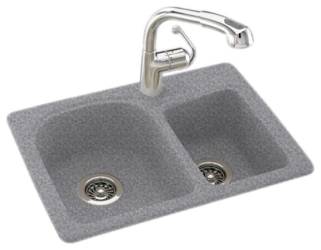 Swan 18x25x7 Solid Surface Kitchen Sink 1 Hole