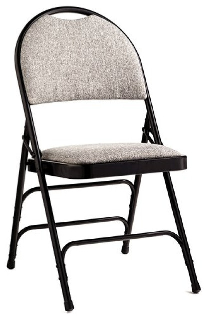 Awesome Comfort Series Padded Seat Padded Back Folding Chair Set Of 4 Chairs Black And Squirreltailoven Fun Painted Chair Ideas Images Squirreltailovenorg