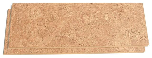 """11.81""""x35.43"""" Forna Floating 10mm Uniclic Cork Floor Desert Arable, Set Of 7."""