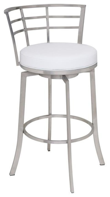 Fantastic Viper 26 Counter Height Swivel Barstool Brushed Stainless Steel Finish Gmtry Best Dining Table And Chair Ideas Images Gmtryco