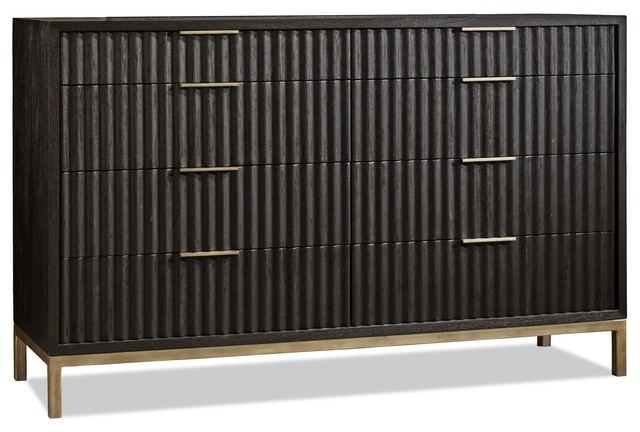Westmont Dresser, Black / Brushed Steel.