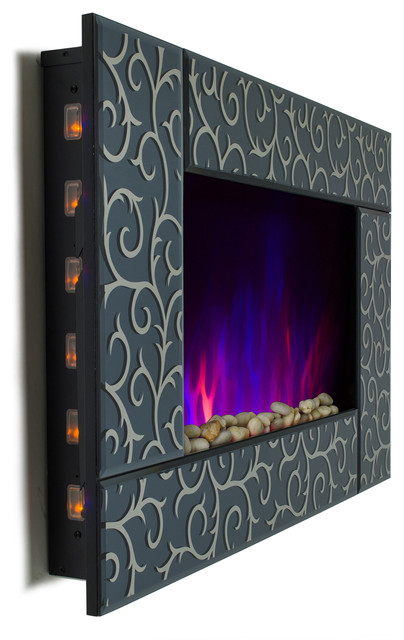 36 Wall-Mount Electric Fireplace With 2-In-1 Interchangeable Bedding.