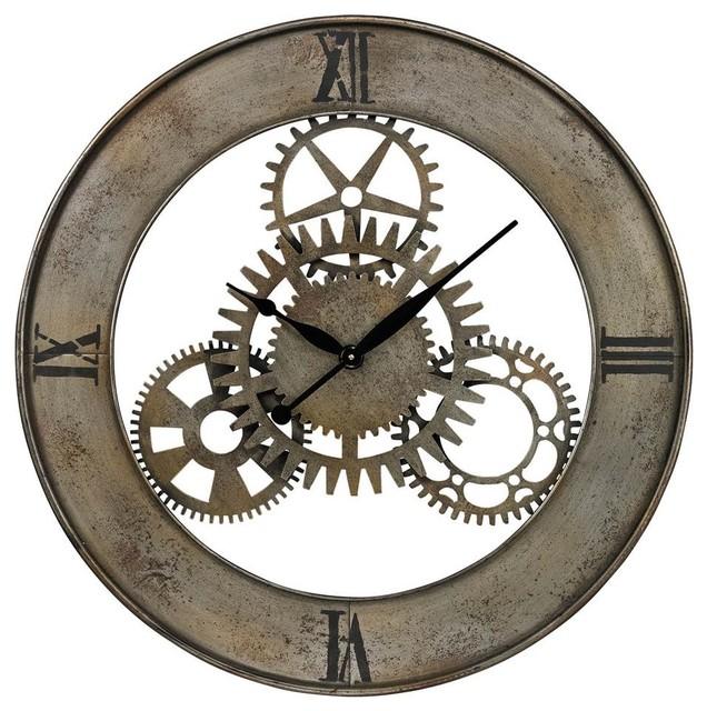 large industrial wall clock uk clocks for sale vintage sterling industries cog by