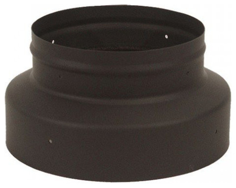 "5"". To 6"". Single Wall Black Stove Pipe Increaser/reducer."
