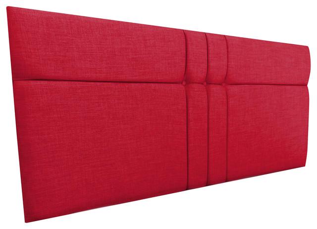 Brooke Linen Headboard, Red, 152 cm
